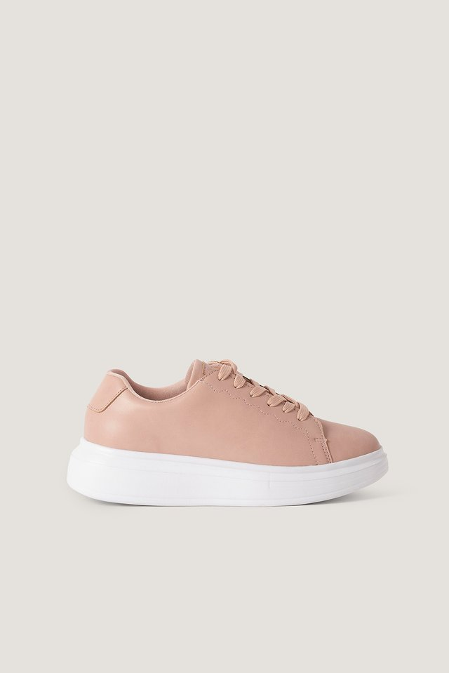 Basic Court Trainers Dusty Pink