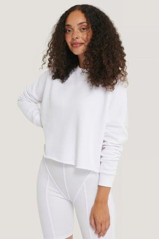 White Organisch Normaler Pullover