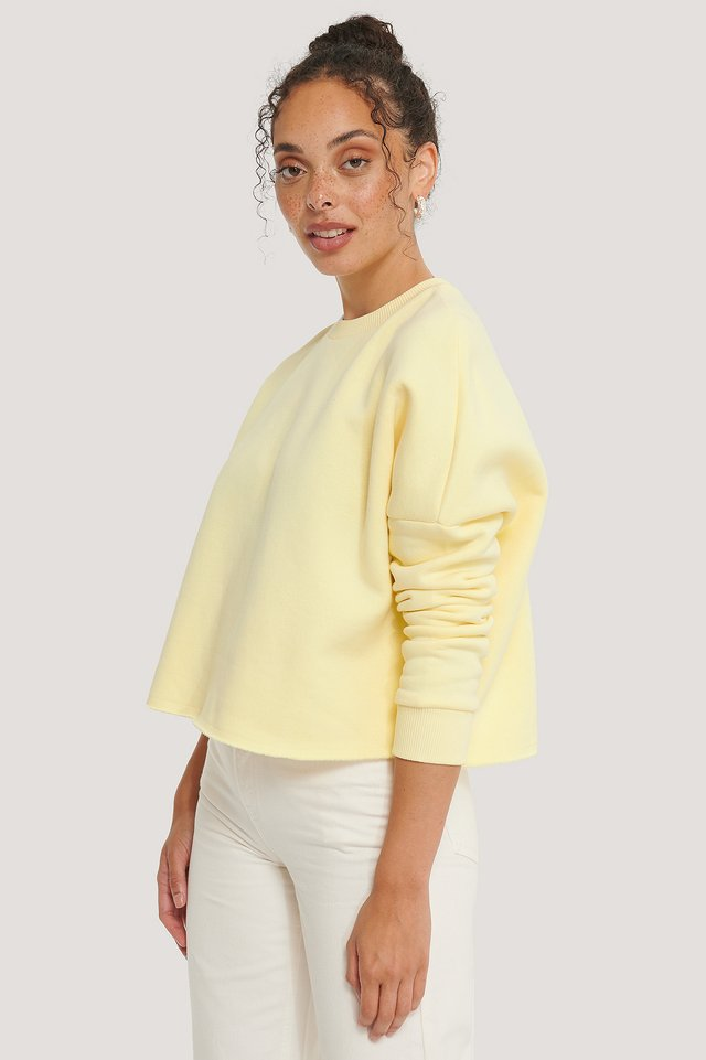 Organic Basic Cropped Sweater Yellow