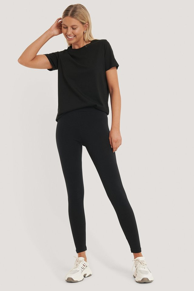 Basic Highwaist Leggings Black