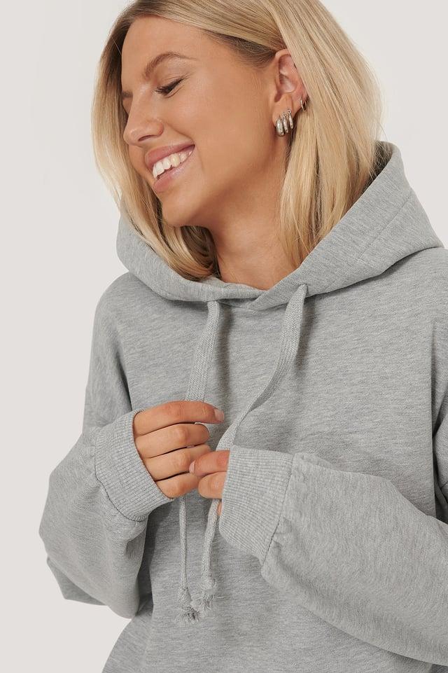 Basic Hoodie Grey Melange