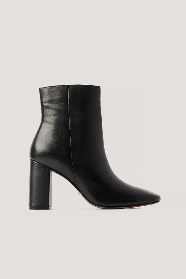 Basic Läderboots Black
