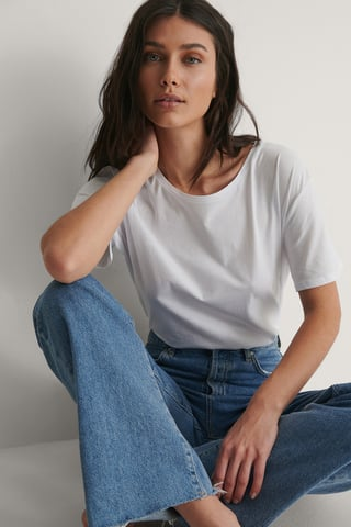 White Basic Oversize T-Shirt