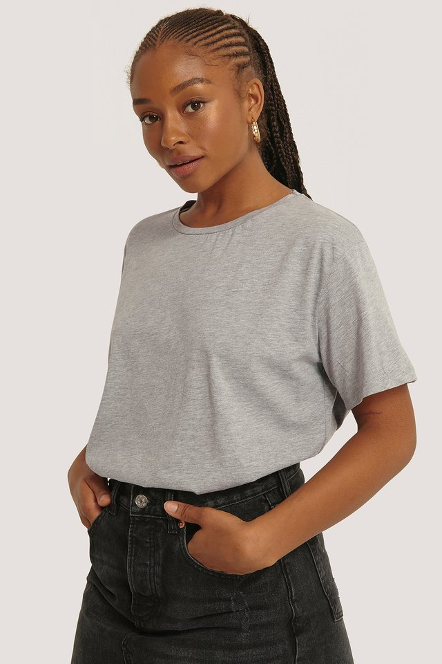 Basic Oversized Tee Grey Melange