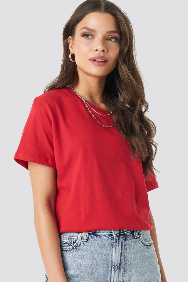 Basic Oversized Tee Red