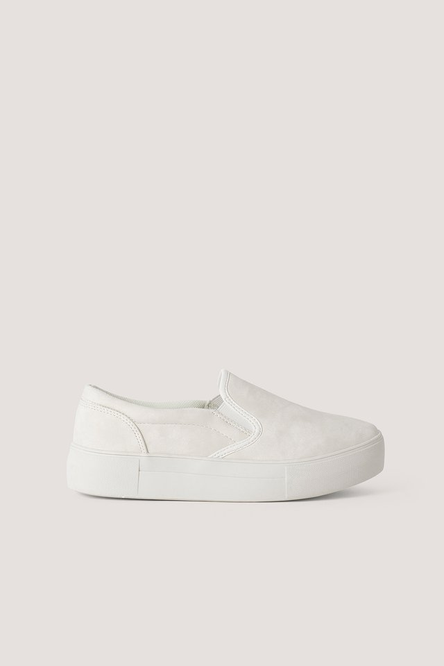 Basic Slip In Trainers White