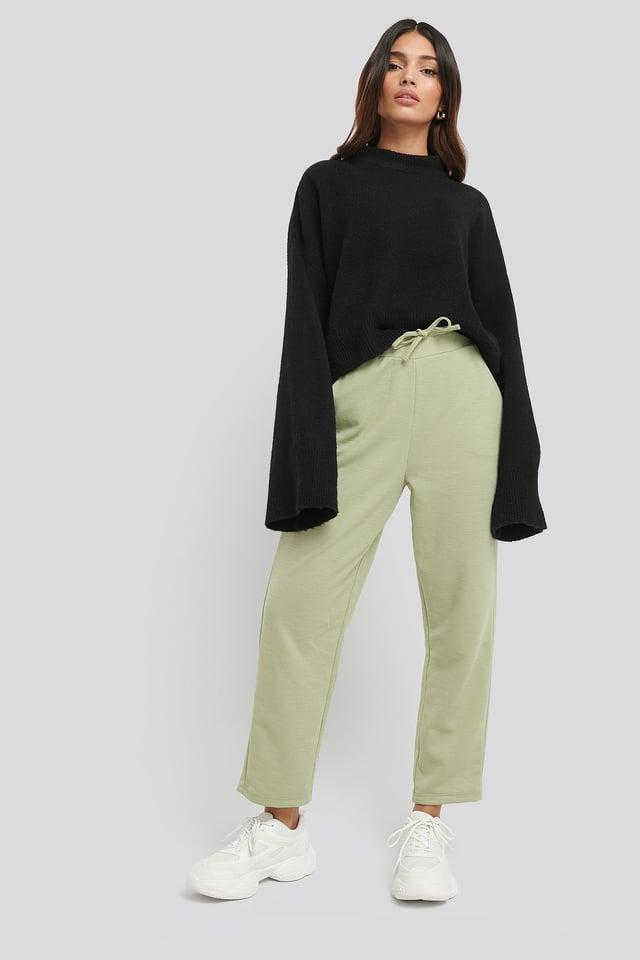 Light Khaki Basic Slip Pants