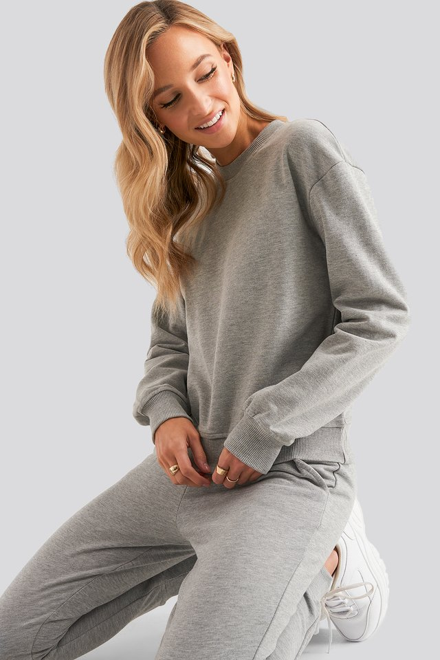 Basic Sweater Grey Mel