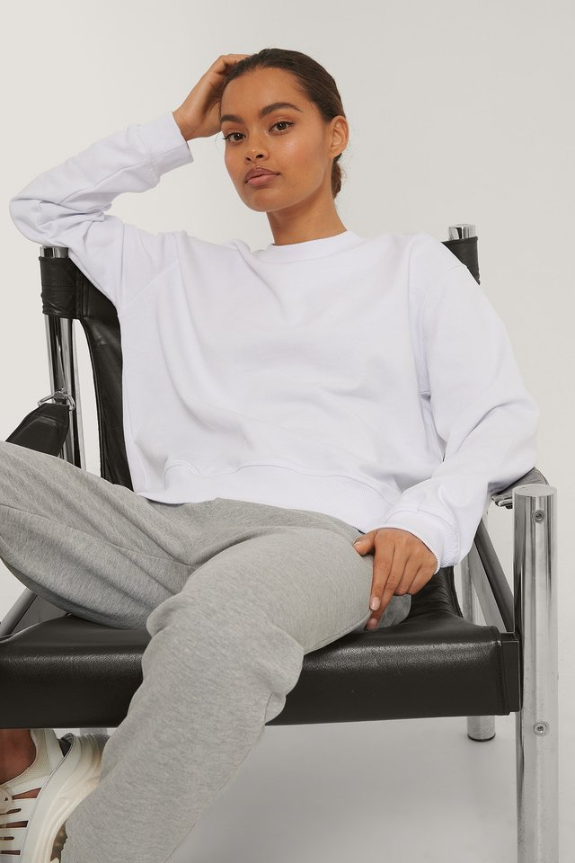 Normaler Pullover White