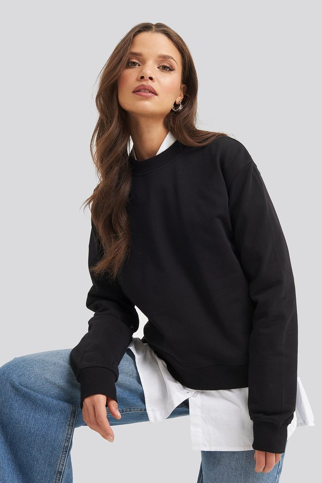 Normaler Pullover Black