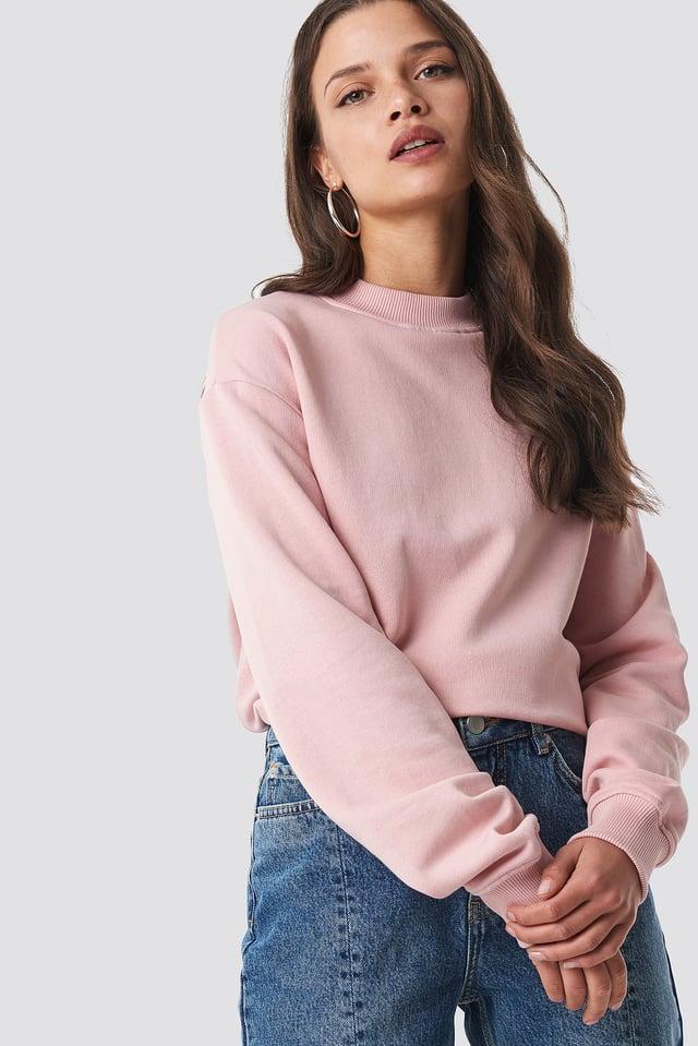 Bluza basic Dusty Pink