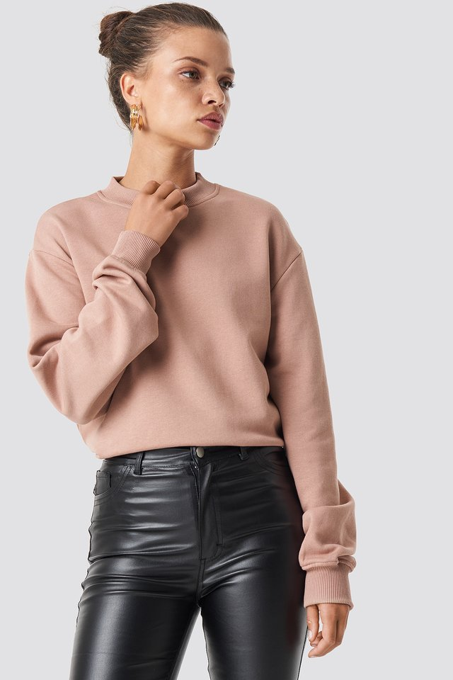 Basic Sweater Dusty Dark Pink