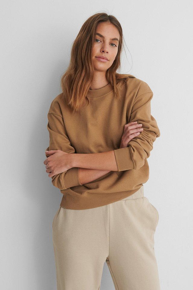 Normaler Pullover Tanned