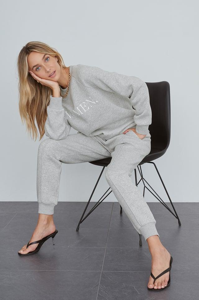 Grey Organic Basic Sweatshirt