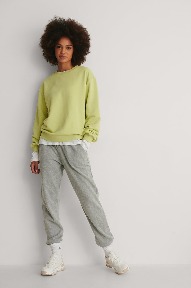 Green Organic Basic Sweater