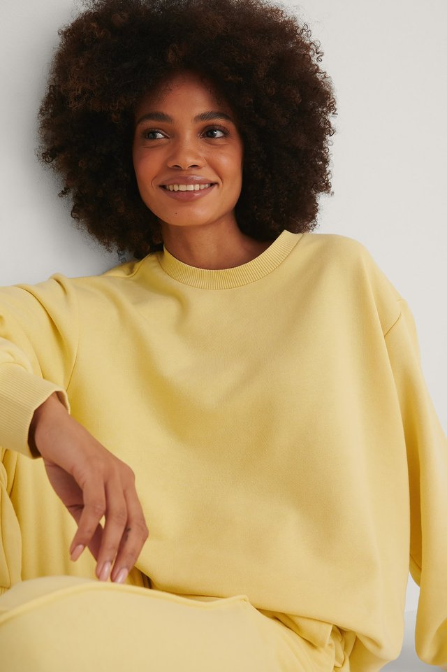 Yellow Organic Basic Sweater