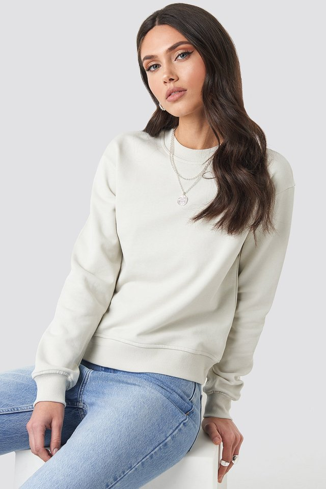 Basic Sweater Dusty Light Beige
