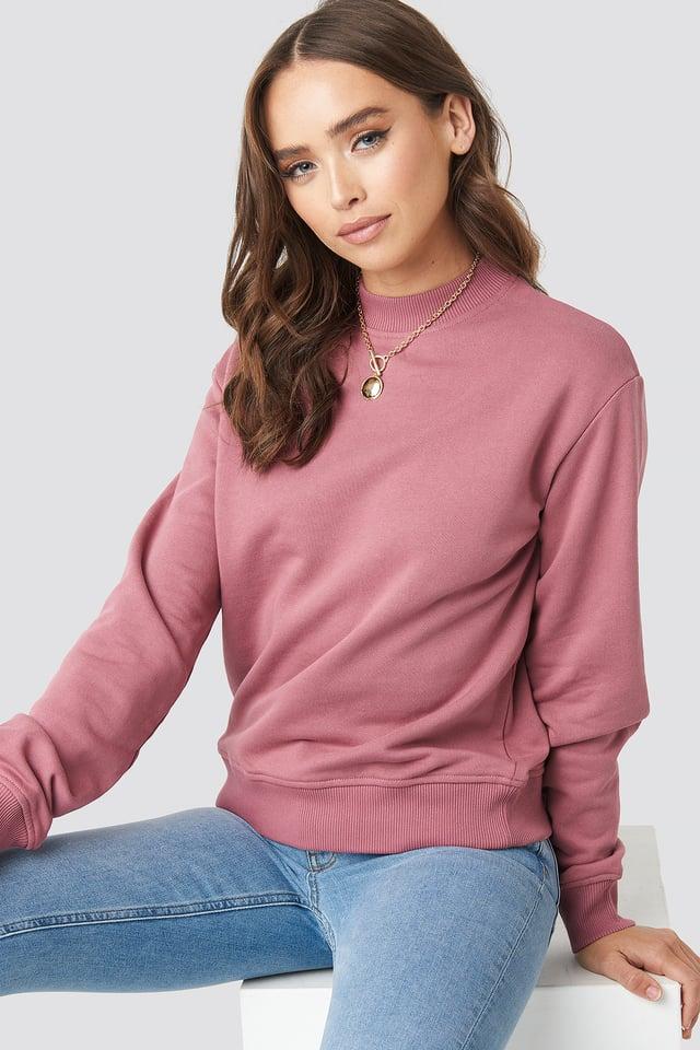 Basic Sweater Purple Rose