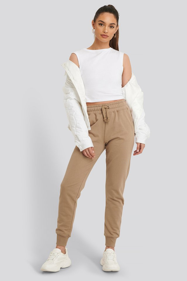 Basic Sweatpants Beige