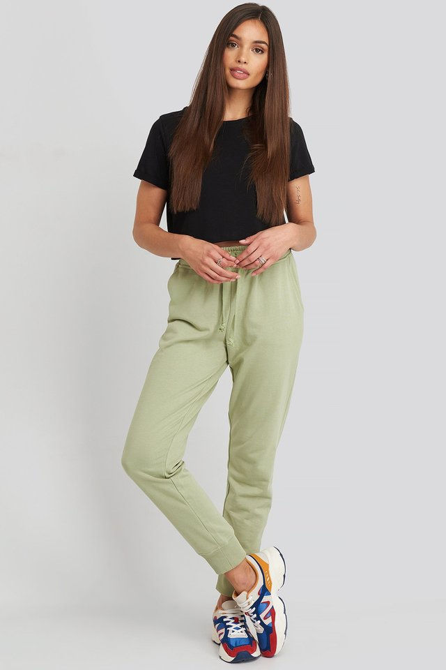 Basic Sweatpants Light Khaki