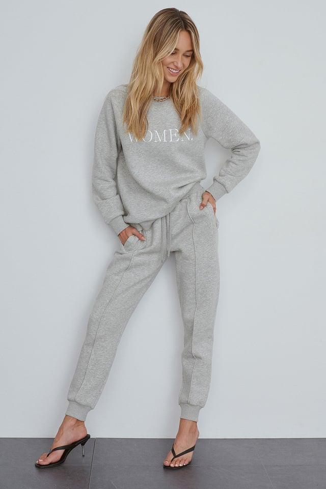 Grey Organic Basic Sweatpants