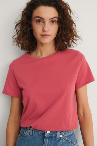 Washed Red Basis T-Shirt