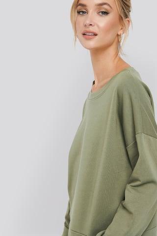 Khaki Basic Wide Sweater