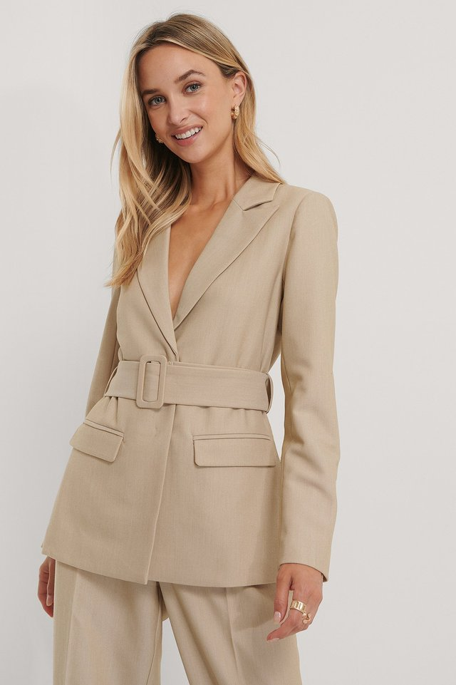 Belted Blazer The Fashion Fraction x NA-KD