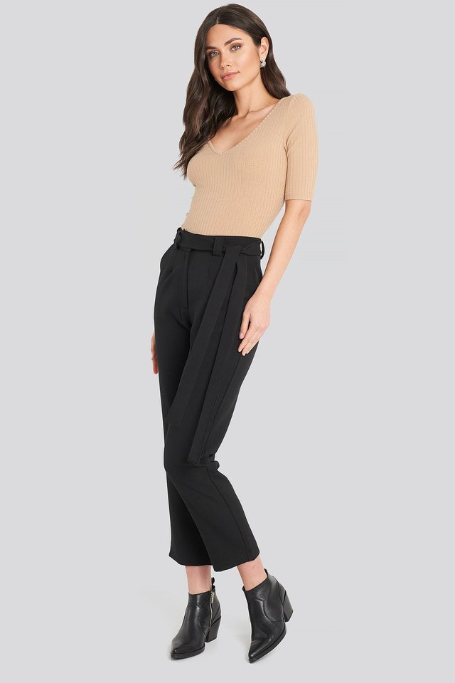 Belted Pants Black
