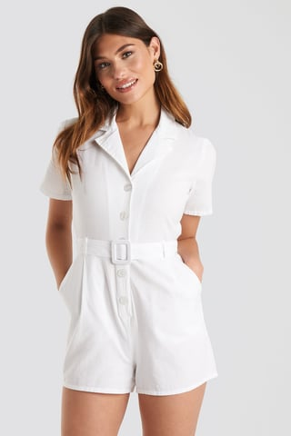 Offwhite Belted Playsuit