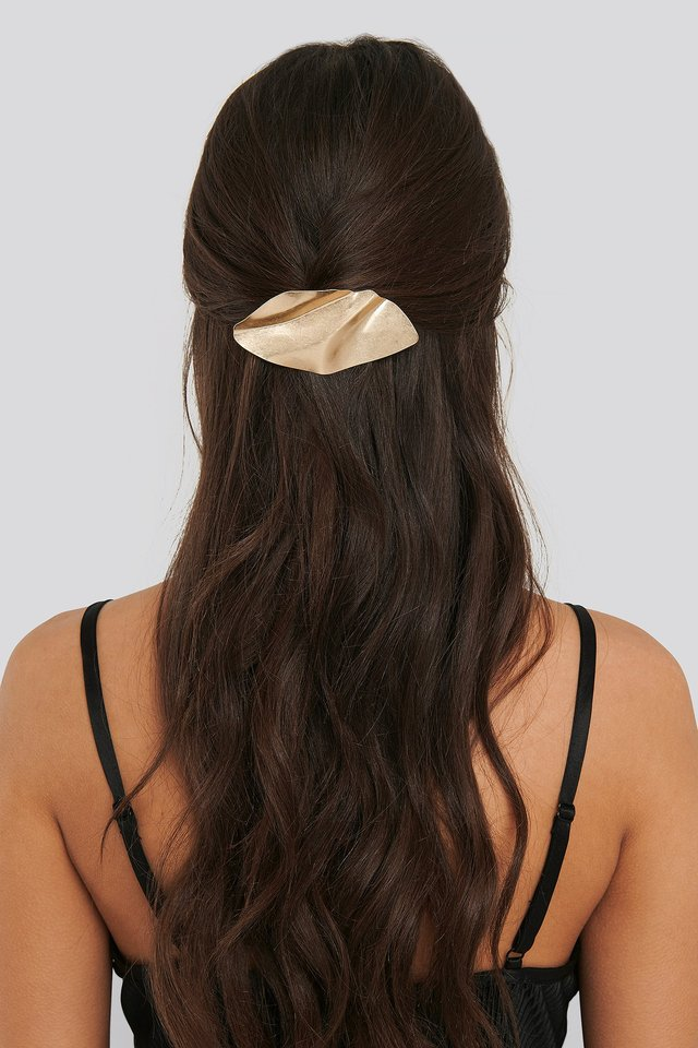 Bended Metal Hair Clip Gold