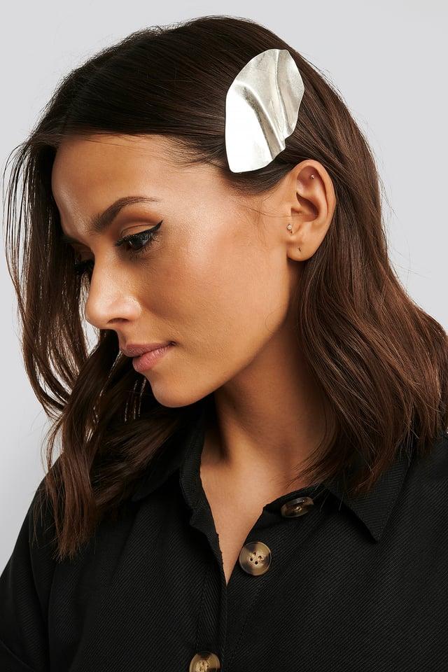 Silver Bended Metal Hair Clip
