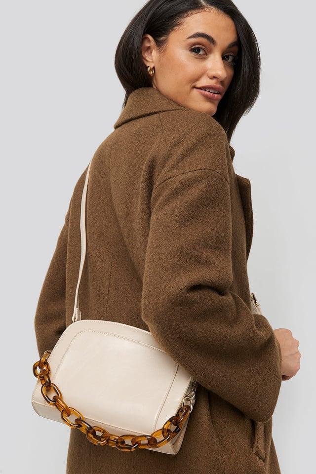 Big Chain Shoulder Bag Gloss Offwhite
