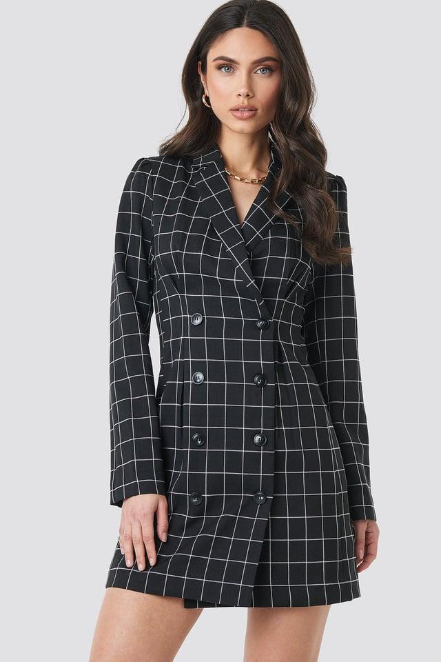 Big Check Blazer Dress NA-KD Classic