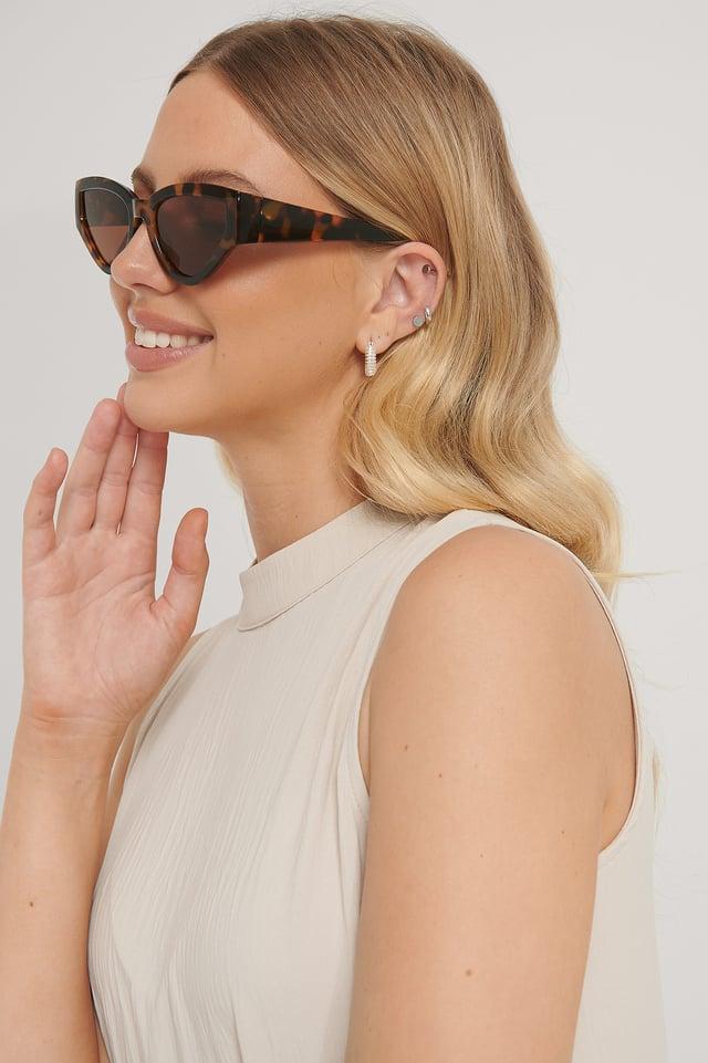 Tortoise Big Drop Shape Sunglasses