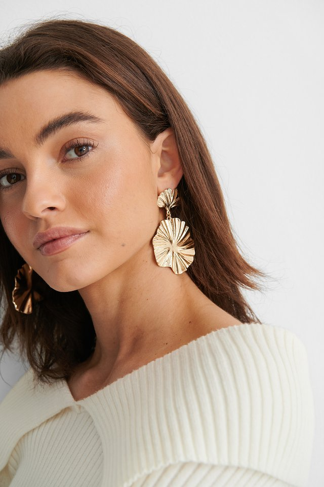 Big Fan Earrings Gold