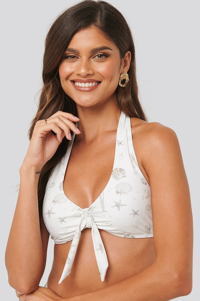Sea Shell Big Knot Bikini Top