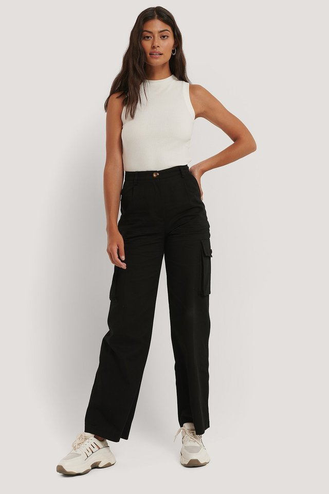 Big Pocket Cargo Pants Black