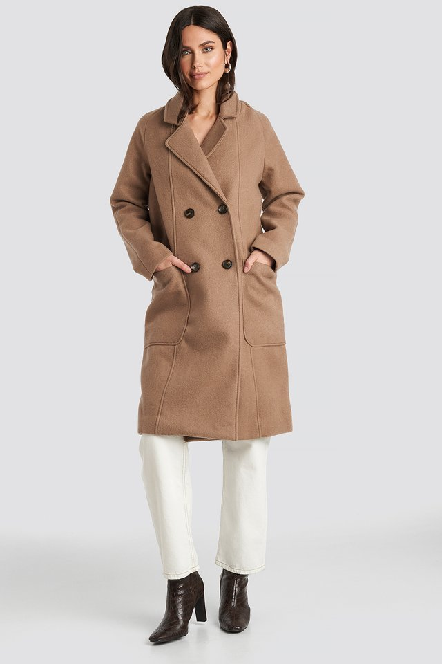 Big Pocket Coat Beige