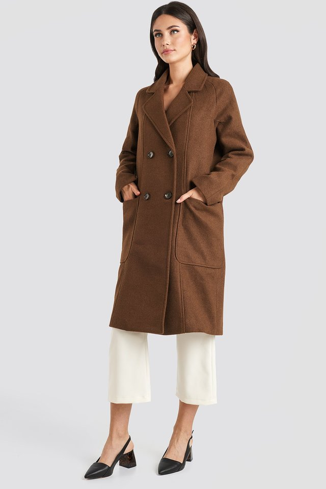 Big Pocket Coat Brown