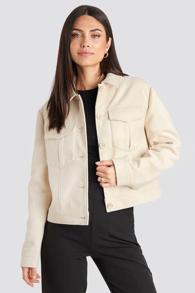 Big Pocket Short Jacket Offwhite