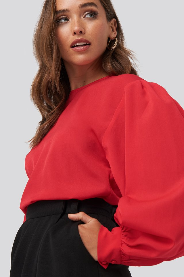 Big Sleeve Blouse Red