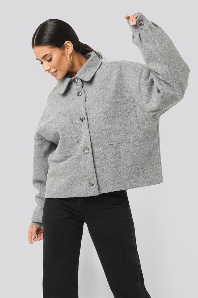 Big Sleeve Oversized Jacket Grey Melange