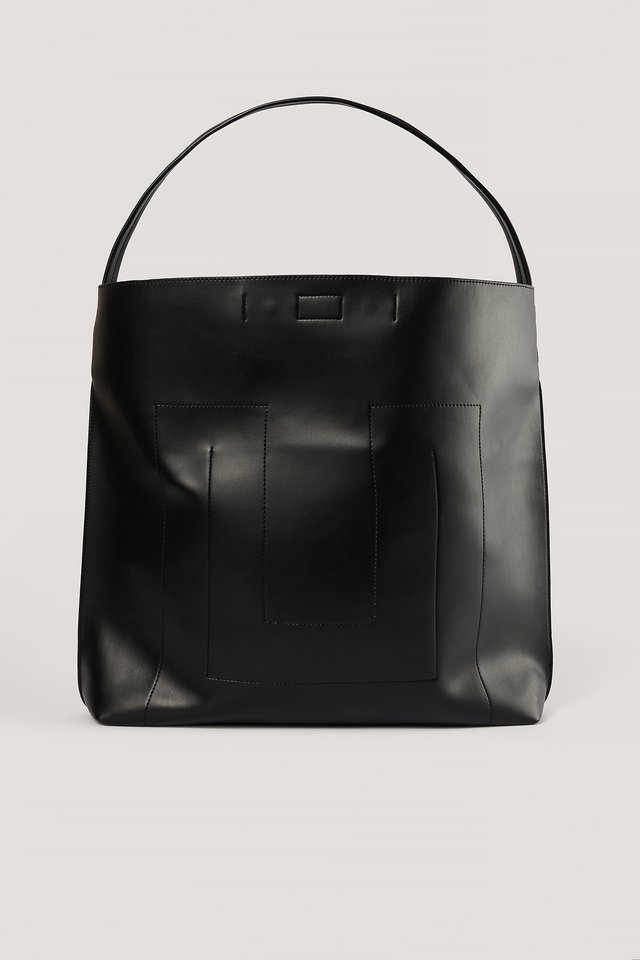 Black Big Soft Shopper