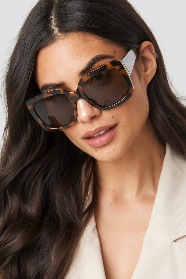 Big Squared Sunglasses Tortoise
