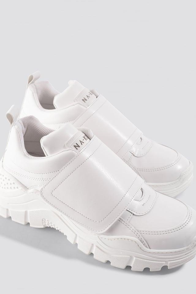Big Velcro Chunky Trainers White