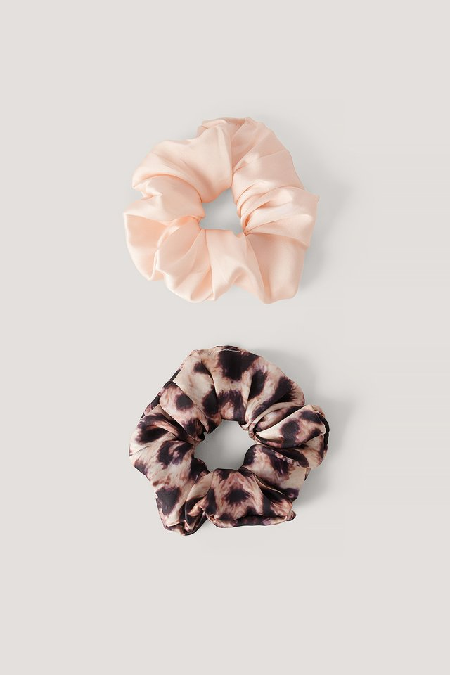 Blurry Leopard Scrunchie Set Leopard