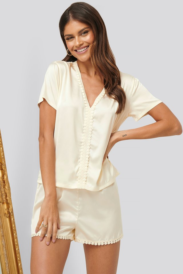 Boho Night Shirt Offwhite