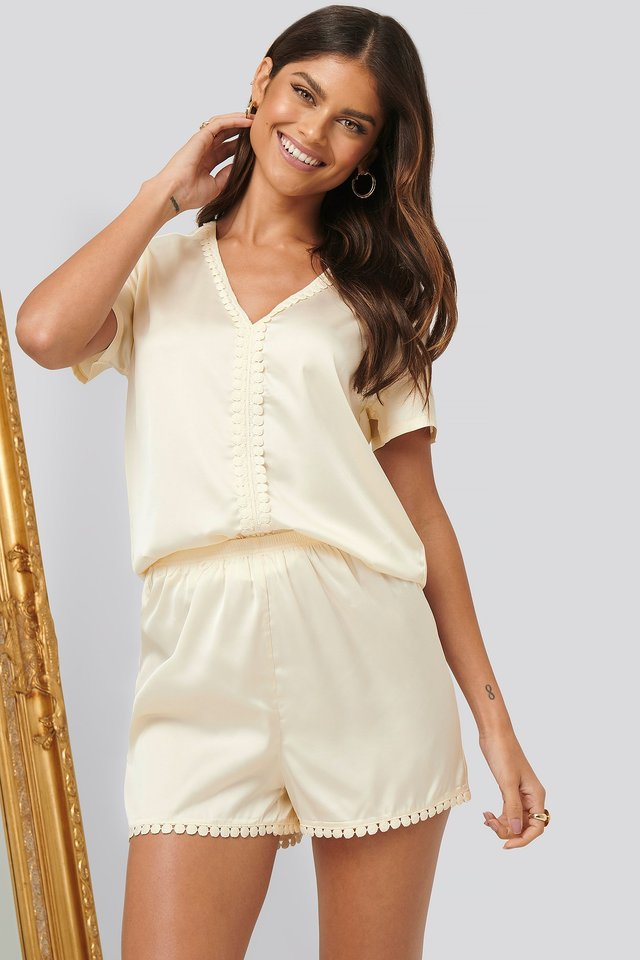 Boho Night Shorts Offwhite
