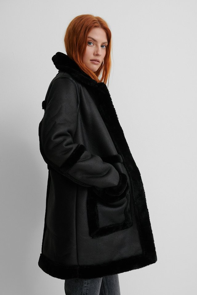 Black Bonded Long Coat